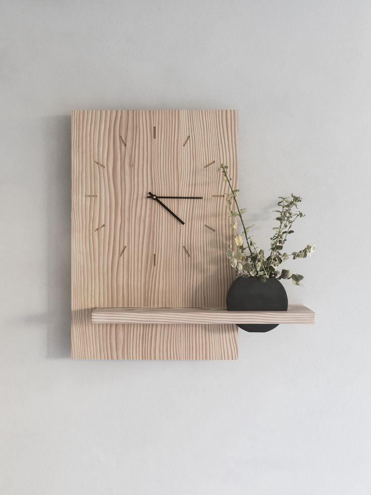 ساعة خشبية -كود:CL-017